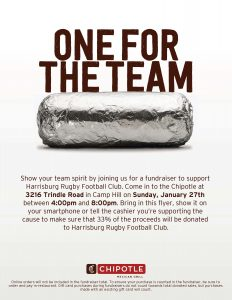 Hungry Ruggers Night @ Chipotle